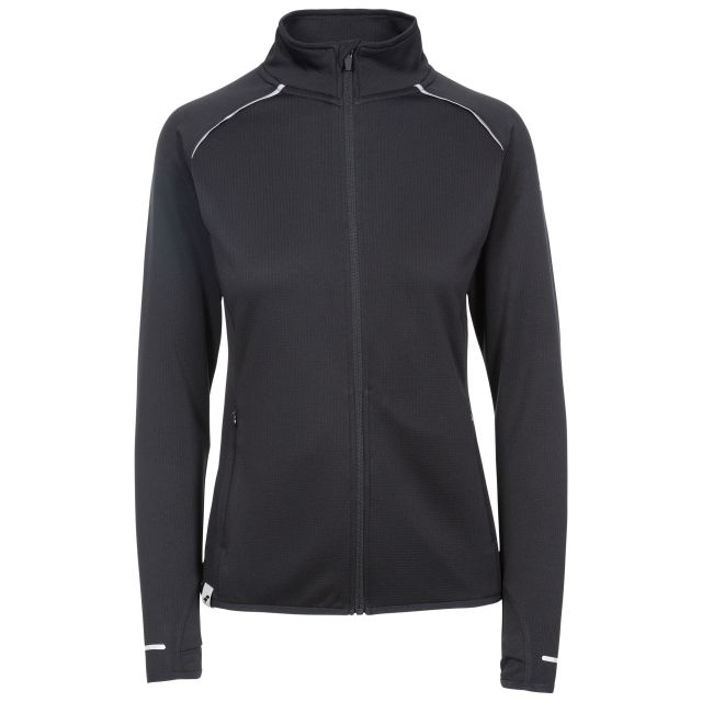 Evie Women's Active Jacket in Black, Front view on mannequin