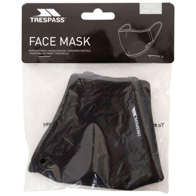 Trespass Adults Reusable Cotton Face Mask in Black