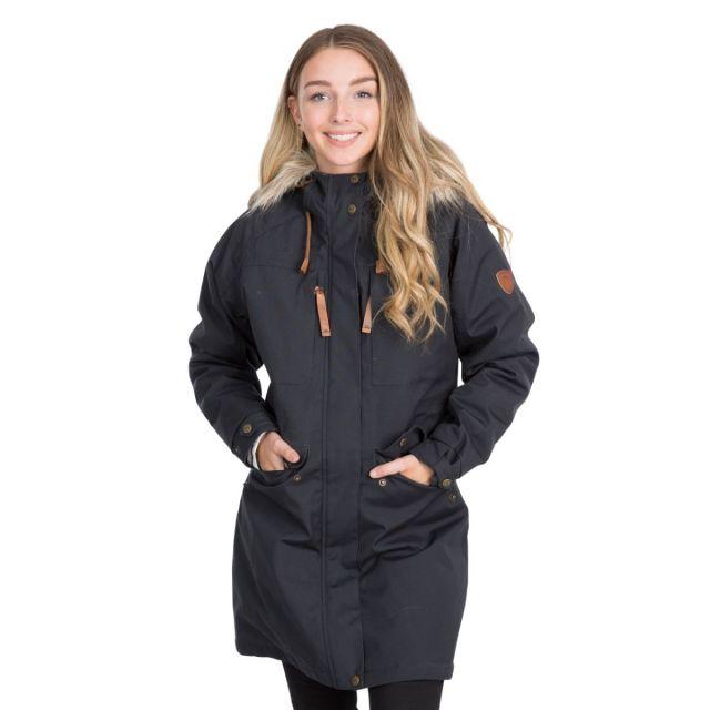 Faithful Women's Waterproof Parka Jacket in Grey