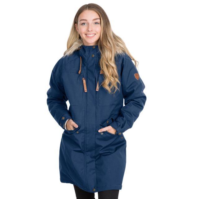 Faithful Women's Waterproof Parka Jacket in Navy