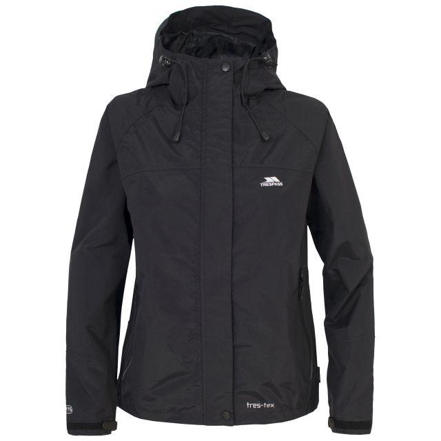 Trespass Womens Waterproof Jacket Hooded Miyake in Black
