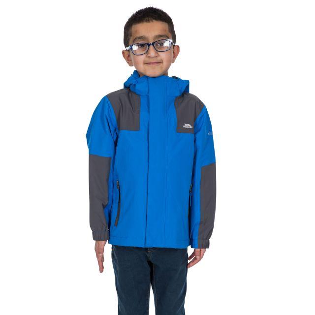 Trespass Kids Waterproof Jacket in Blue Farpost