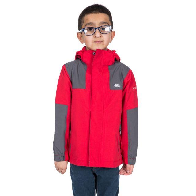 Trespass Kids Waterproof Jacket in Red Farpost