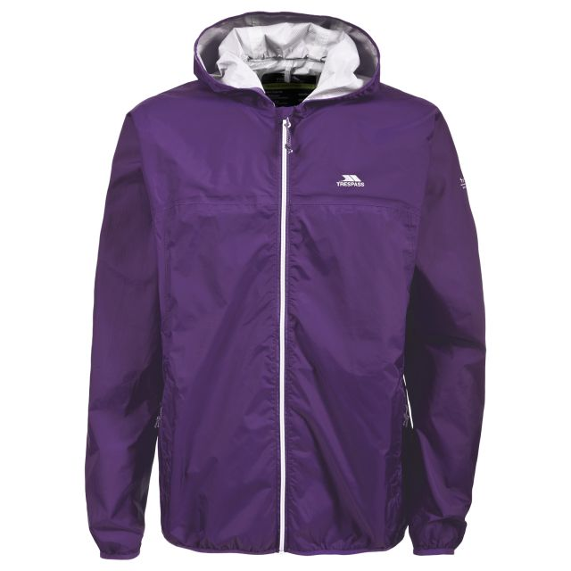 Trespass Adults Packaway Jacket in Purple Fastrack
