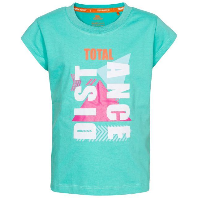 Felicia Kids' Printed T-Shirt  in Light Blue, Front view on mannequin