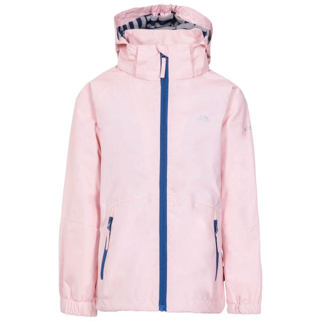 Fenna Kids' Waterproof Jacket in Light Pink, Front view on mannequin