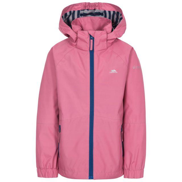 Fenna Kids' Waterproof Jacket in Pink, Front view on mannequin