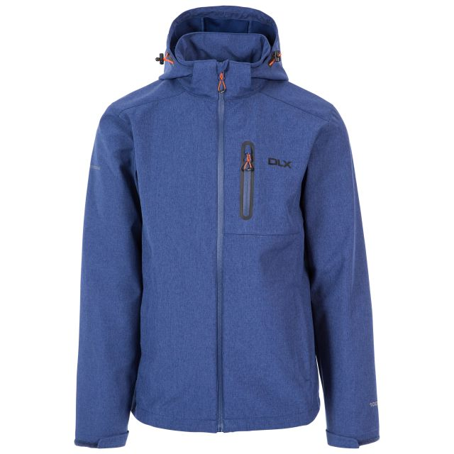 Ferguson II Men's DLX Breathable Softshell Jacket in Navy, Front view on mannequin