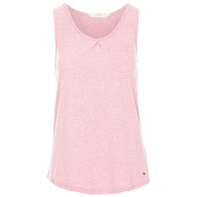 Fidget Women's Sleeveless T-Shirt in Pink, Front view on mannequin