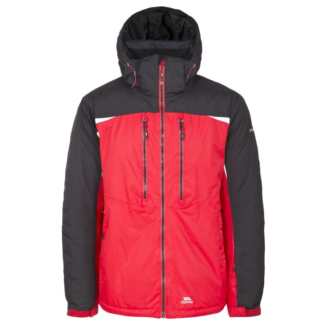 Flashing Men's Waterproof Ski Jacket in Red