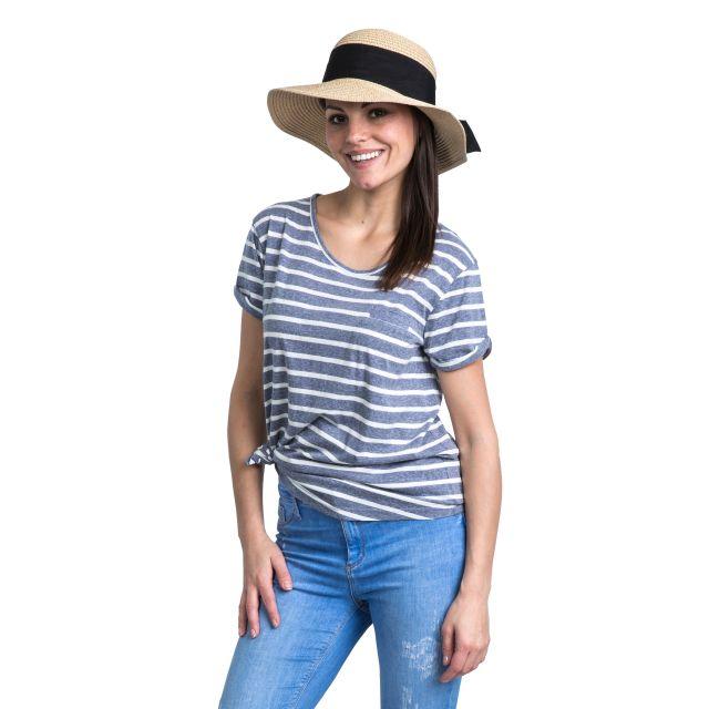 Fleet Women's Striped T-Shirt in Navy