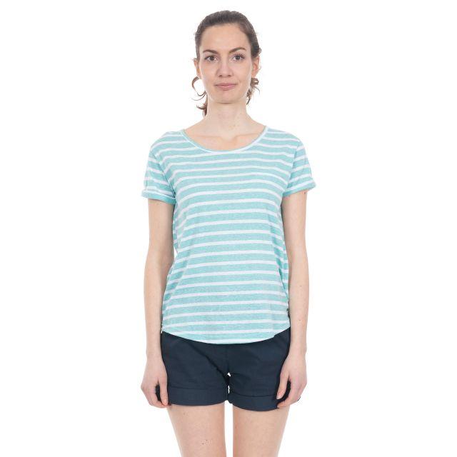 Fleet Women's Striped T-Shirt in Light Blue