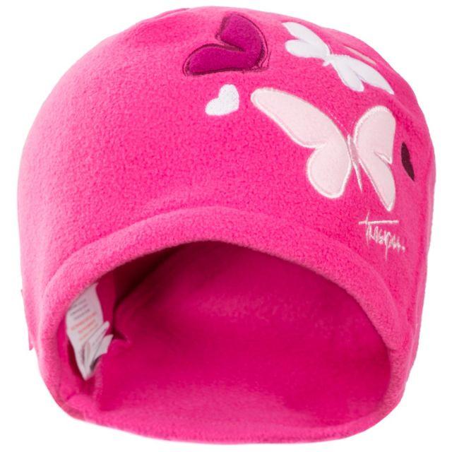 Trespass Kids Fleece Beanie Hat in Pink Flooty