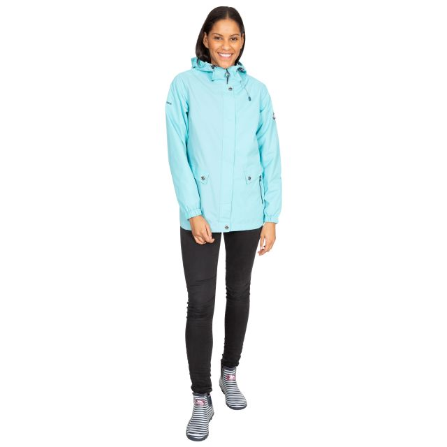 Trespass Womens Waterproof Jacket with Hood Flourish Aqua