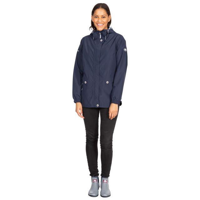 Trespass Womens Waterproof Jacket with Hood Flourish Navy