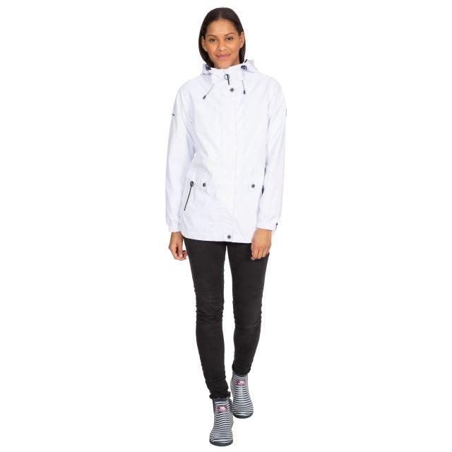 Trespass Womens Waterproof Jacket with Hood Flourish White