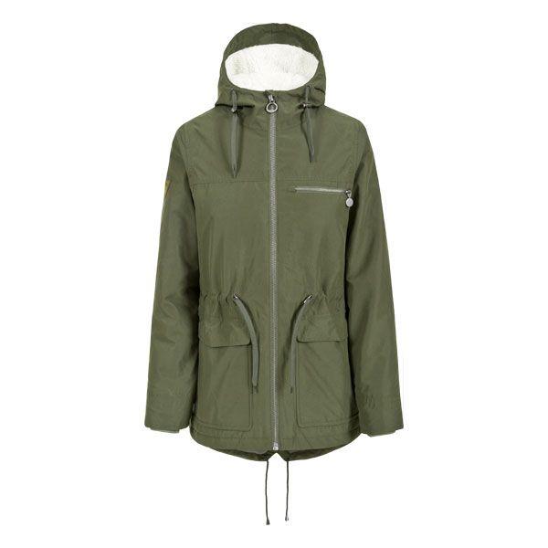 Trespass Womens Waterproof Parka Jacket Forever Moss