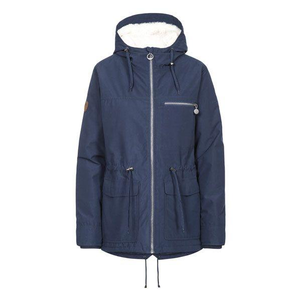Trespass Womens Waterproof Parka Jacket Forever Navy