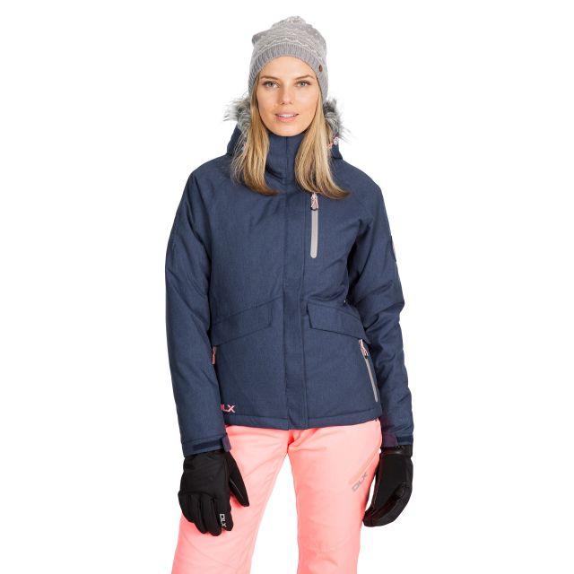 DLX Womens Waterproof Ski Jacket with RECCO Francesca Navy