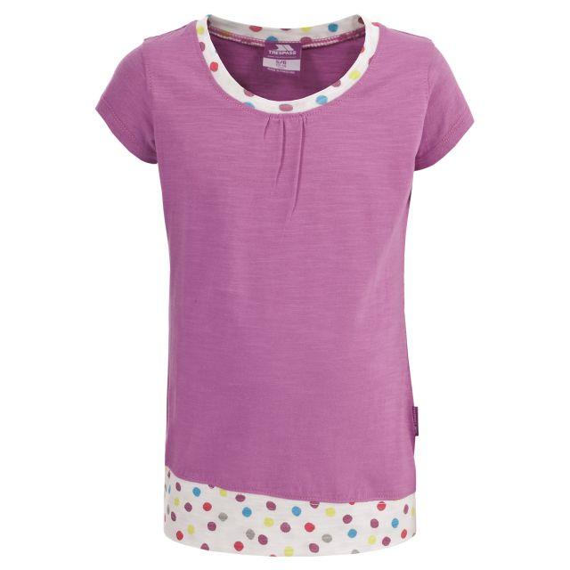 Trespass Kids Polka Dot T-shirt in Purple Friendship