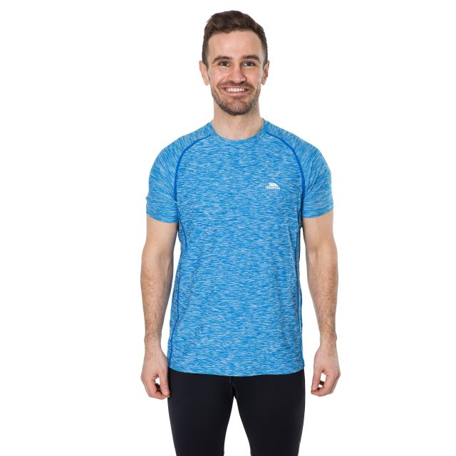 Gaffney Men's Quick Dry Active T-shirt in Blue