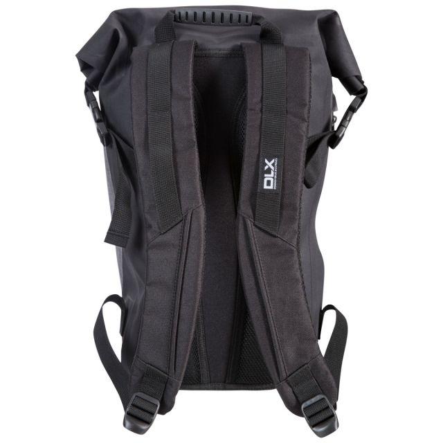 Trespass DLX 20L Waterproof Roll Top Backpack in Black Gentoo