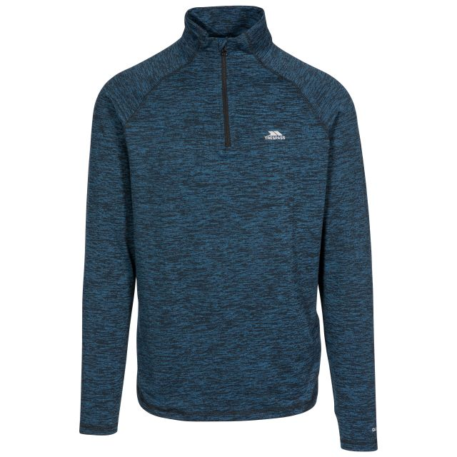 Gerry Men's Quick Dry Active Top in Blue, Front view on mannequin