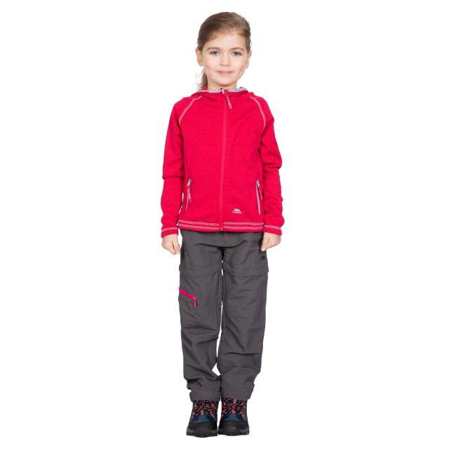 Trespass Kids Fleece Jacket with Hood Full Zip in Pink Goodness