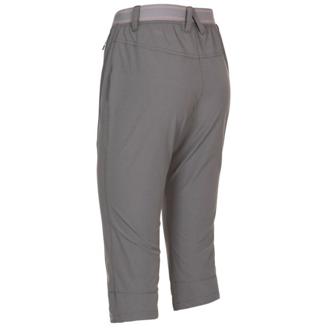 Trespass Women's Quick Dry 3/4 Trousers Grateful Grey