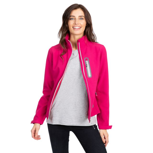 Trespass Womens Softshell Jacket Lightweight Hallie in Pink