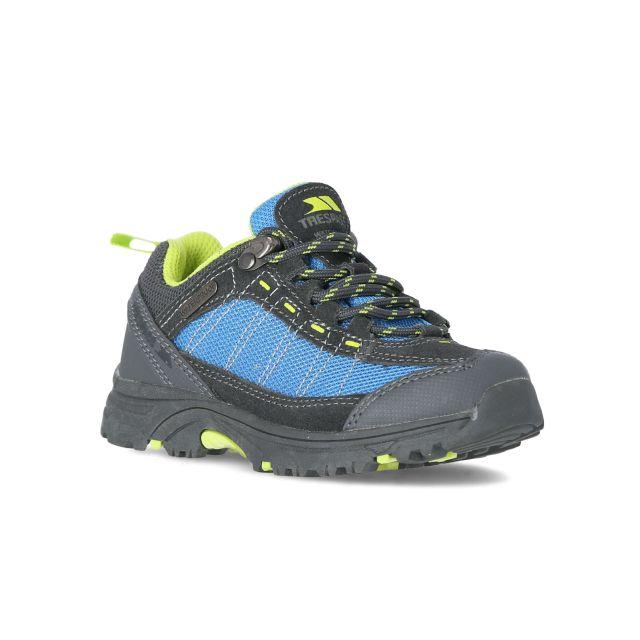Hamley Kids' Waterproof Walking Shoes in Blue, Angled view of footwear