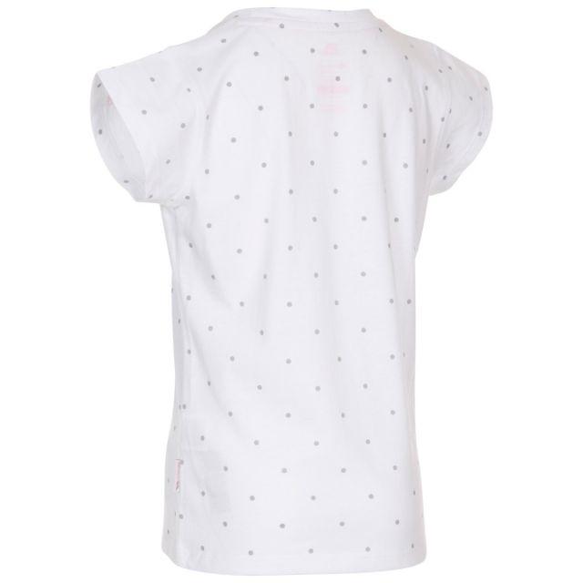 Trespass Kids Quick Dry T-Shirt Harmony White Pale Grey Dot