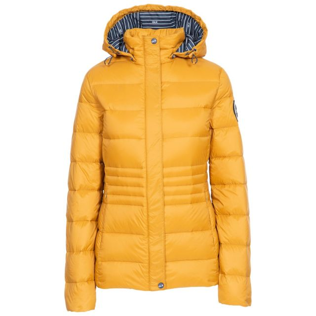 DLX Womens Down Jacket Hayling in San, Front view on mannequin