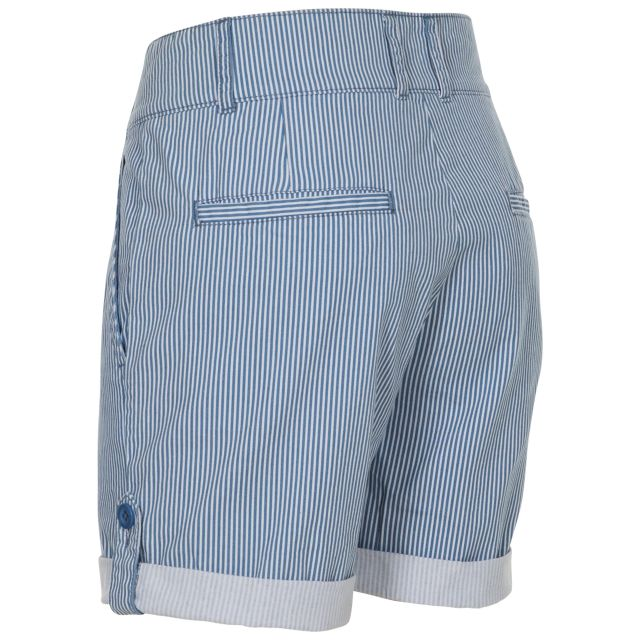 HAZY Women's Cotton Shorts in Light Blue