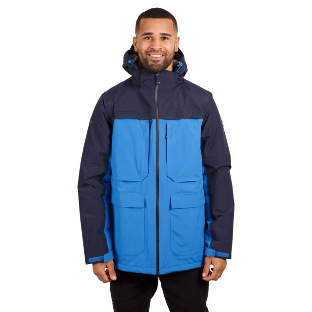 Heathrack Men's Padded Waterproof Jacket in Blue