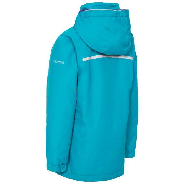 Trespass Kids Padded Waterproof Jacket in Blue Heddar