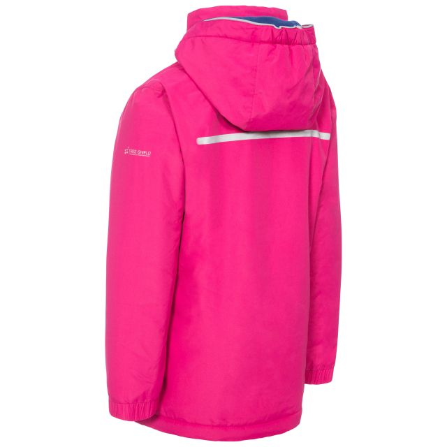 Trespass Kids Padded Waterproof Jacket in Pink Heddar