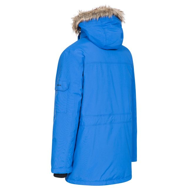 DLX Mens Waterproof Parka Jacket with Down Highland Blue