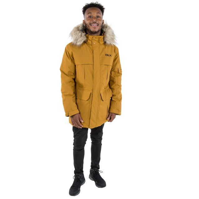 DLX Mens Waterproof Parka Jacket with Down Highland Yellow