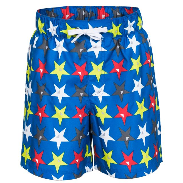 Hitter Kids' Printed Shorts in Blue
