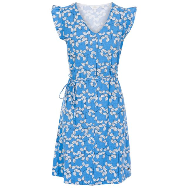 Holly Women's Short Sleeve Dress in Light Blue, Front view on mannequin
