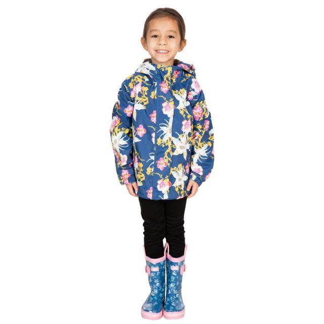 Trespass Girls Waterproof Jacket in Dark Blue Hopeful