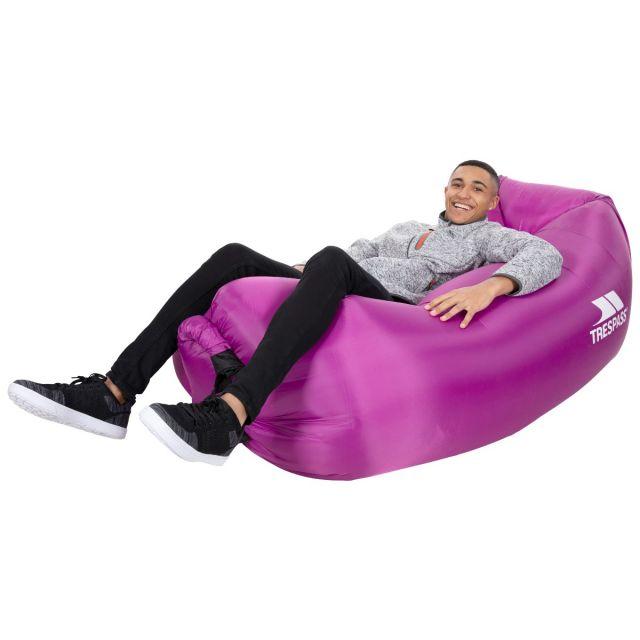 Trespass Inflatable Air Lounger Waterproof Hotdog Purple