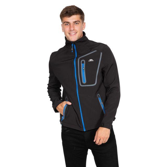 Hotham Men's Lightweight Softshell Jacket in Black