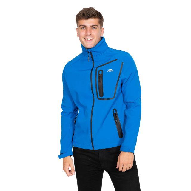 Hotham Men's Lightweight Softshell Jacket in Blue