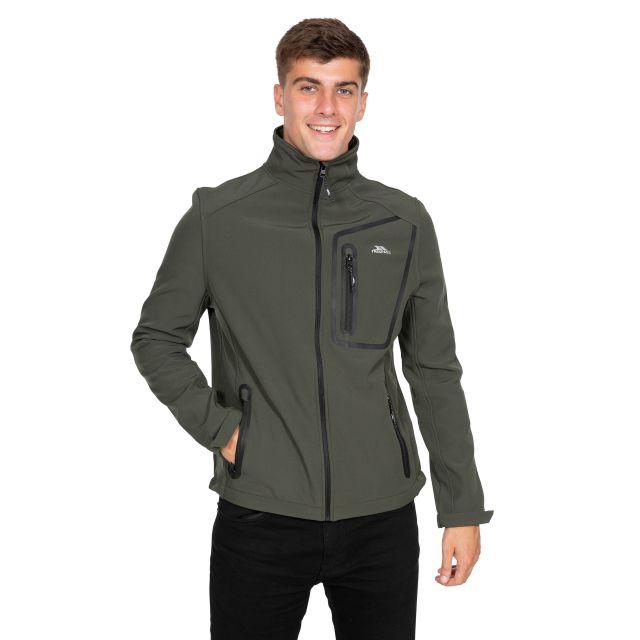 Hotham Men's Lightweight Softshell Jacket in Khaki