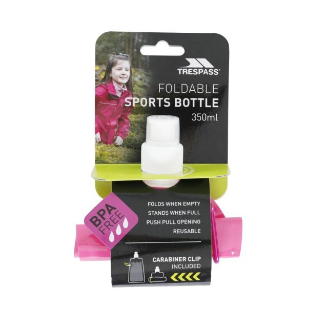 Collapsible Water Bottle 350ml in Pink