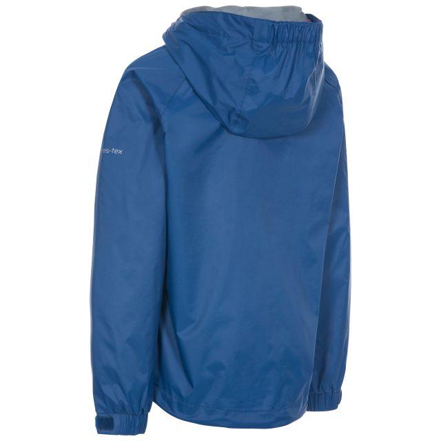 Trespass Kids Waterproof Jacket in Blue Impressed