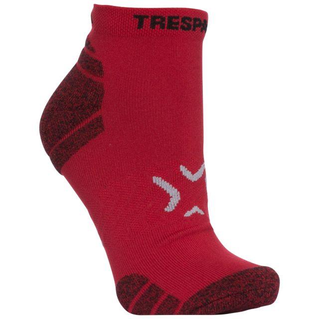 Ingrid Women's Non Slip Trainer Socks in Red