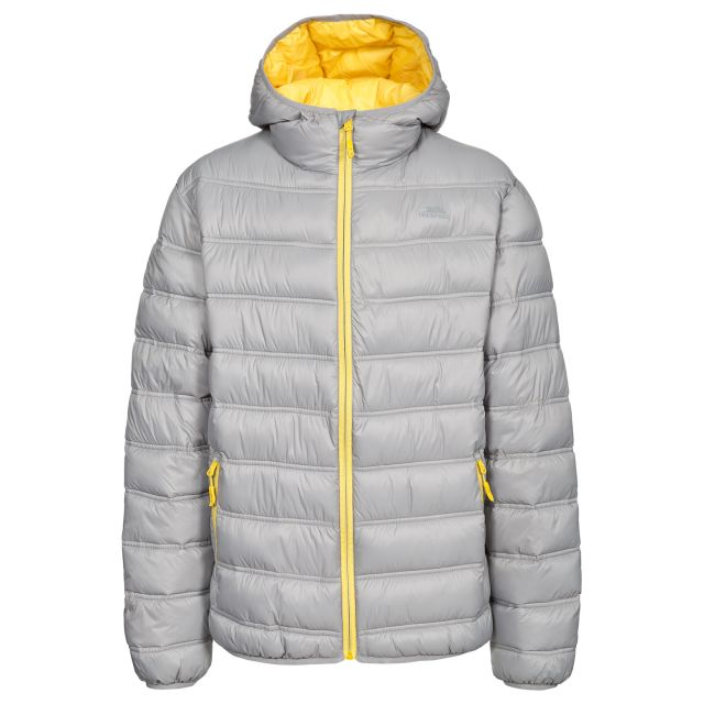 Irrate Men's Padded Casual Jacket in Light Grey
